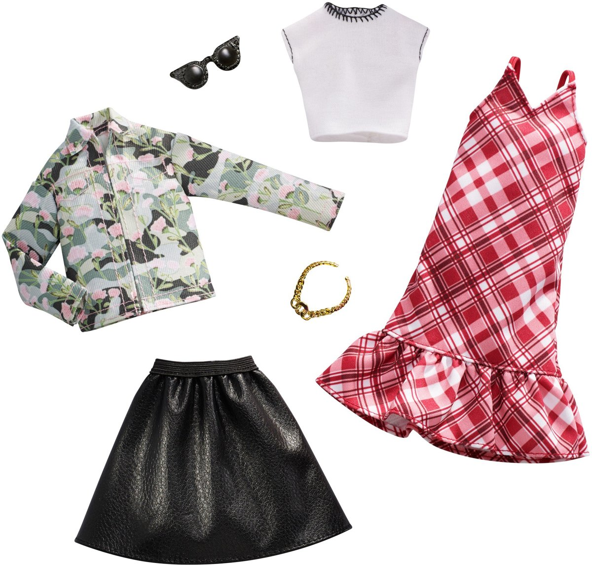 Barbie Kledingsetje Floral Camo Plaid - 2 Outfits