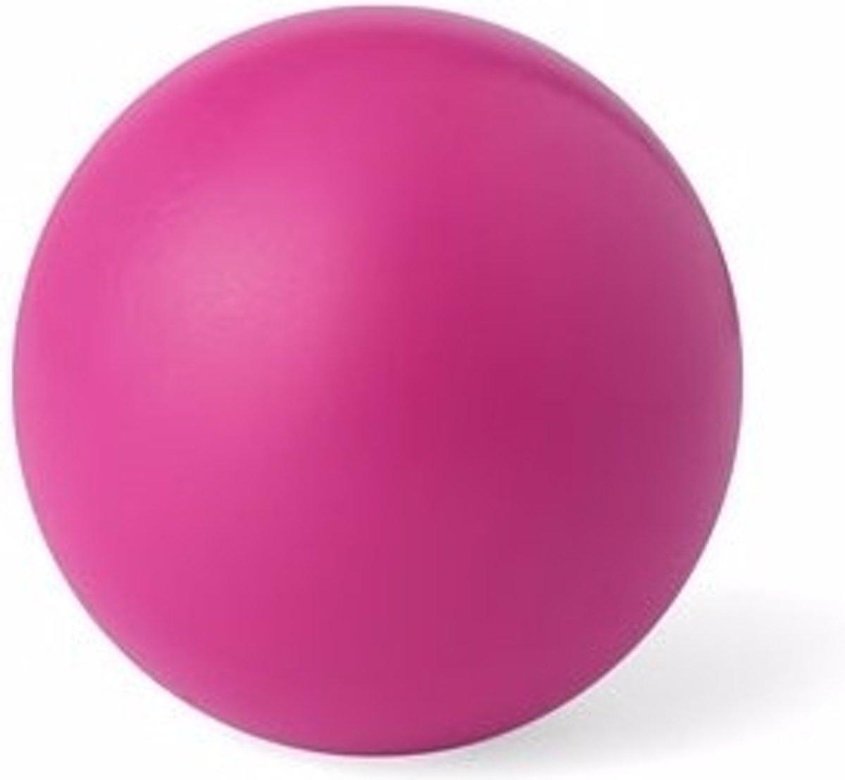 Roze anti stressbal 6 cm kopen