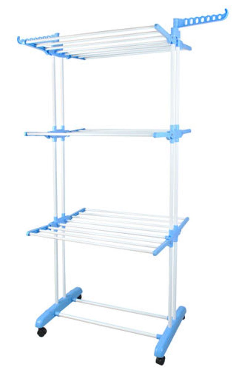 ForDig - XXL Droogtoren 3 niveaus - Droogrek - Metaal Wit/Blauw kopen