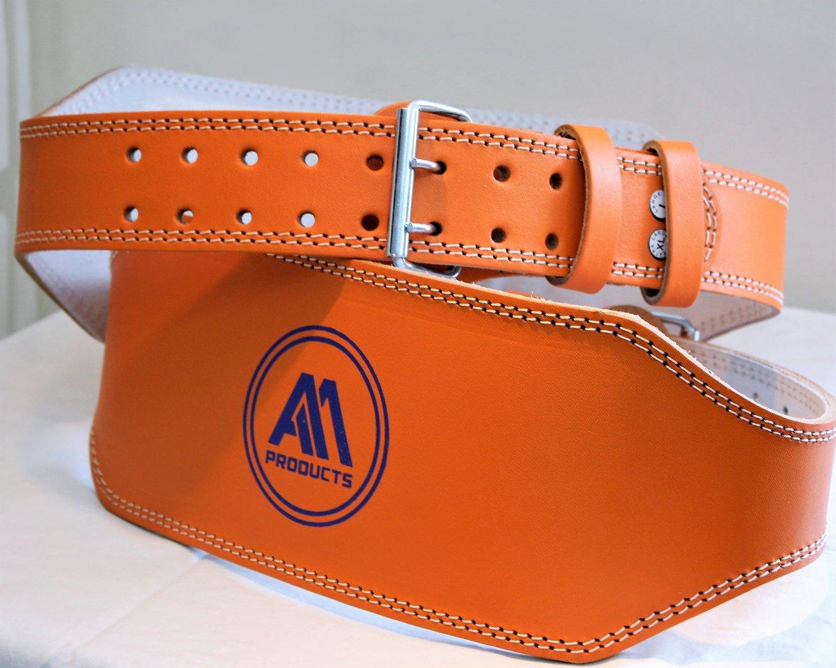 6 Inch Oranje Gewichthef riem halteband Suede fitness band gym training powerlifting straps Small kopen