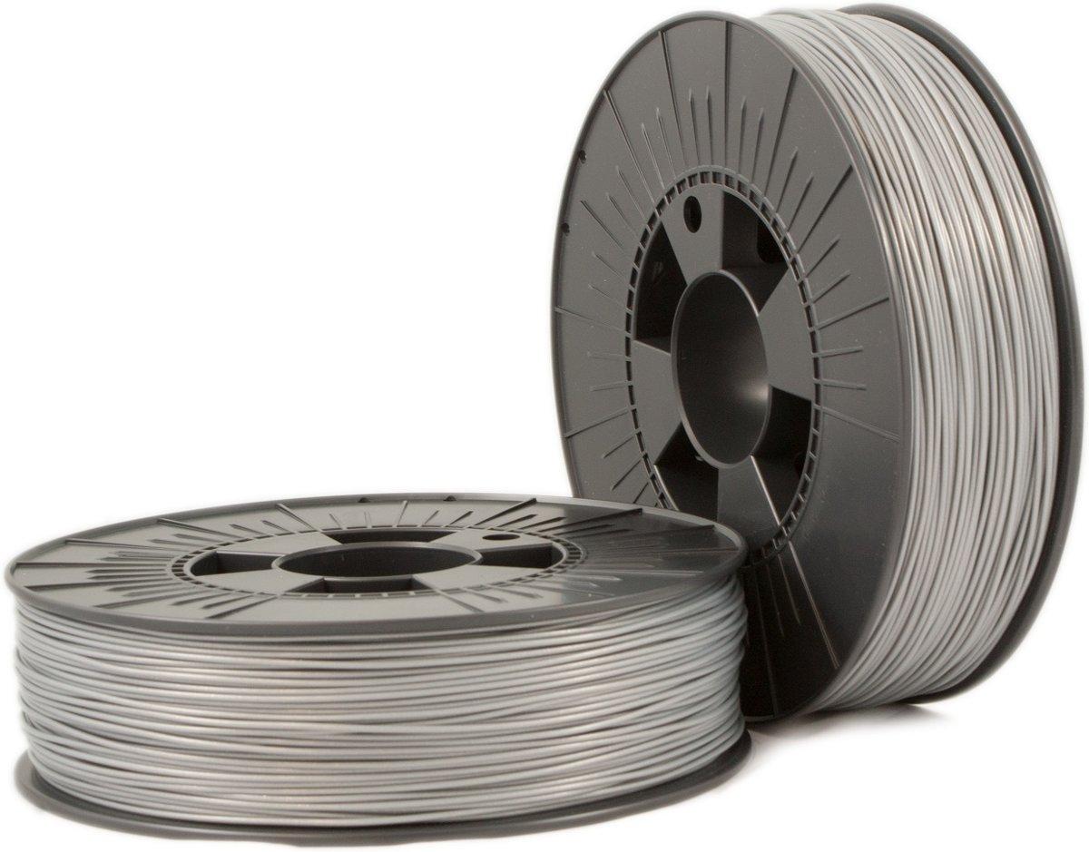 PLA 1,75mm silver ca. RAL 9006 0,75kg - 3D Filament Supplies
