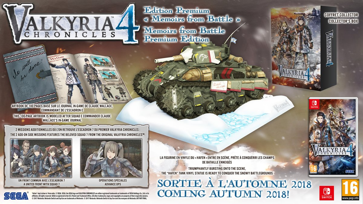 Valkyria Chronicles 4 Memoirs from Battle Collector Edition Switch