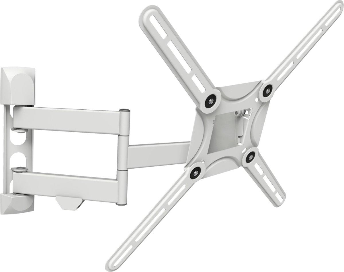 Barkan - Muurbeugel 29'' - 65'' / 74cm - 165cm - Vlak / Gebogen TV - Kijkhoek, Uittrekbaar, Draaibaar & Kantelbaar - White kopen