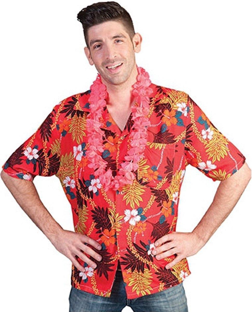 5d6b7bde872 Rode Hawaii blouse met tropische print 52-54 (l/xl)