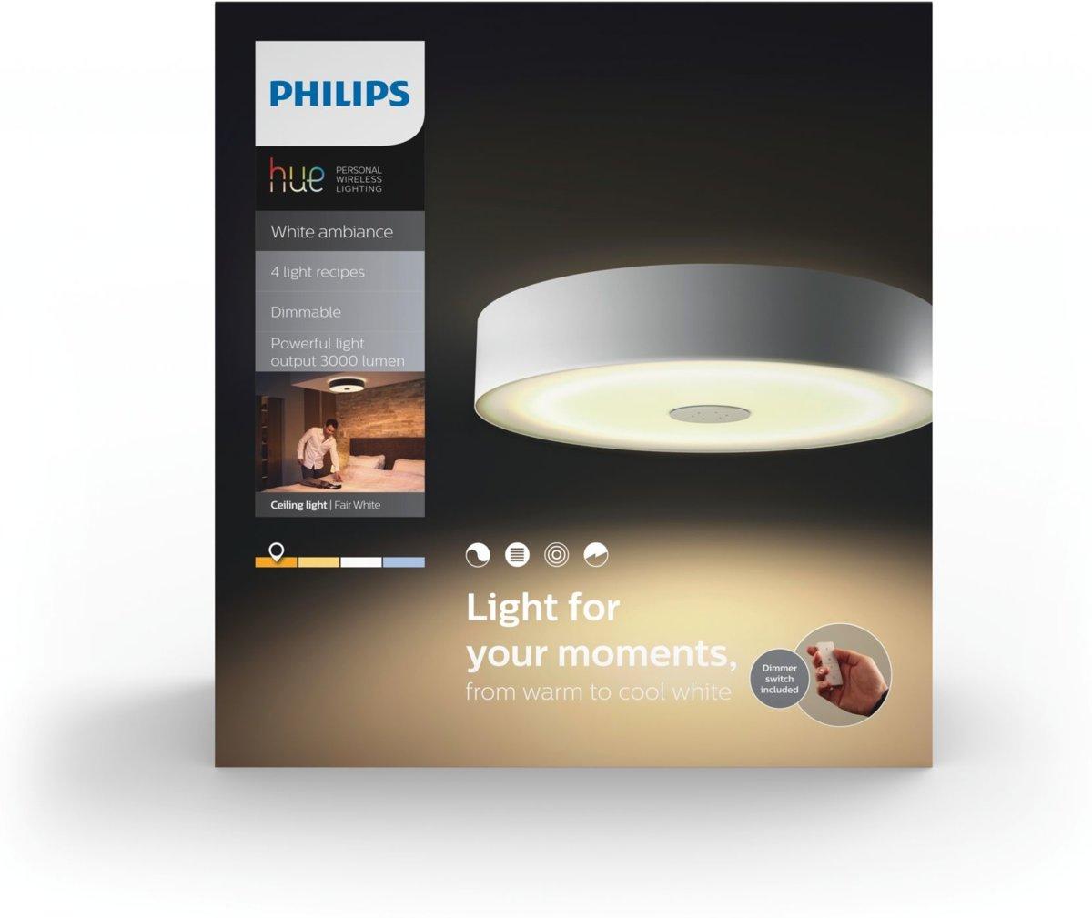 Koud Wit Licht : Bol.com philips hue fair white ambiance plafondlamp incl dim