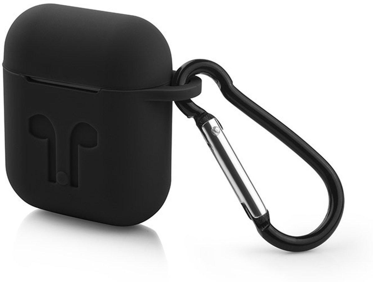 Airpods hoesje - geschikt voor Apple Airpods - Zwart kopen