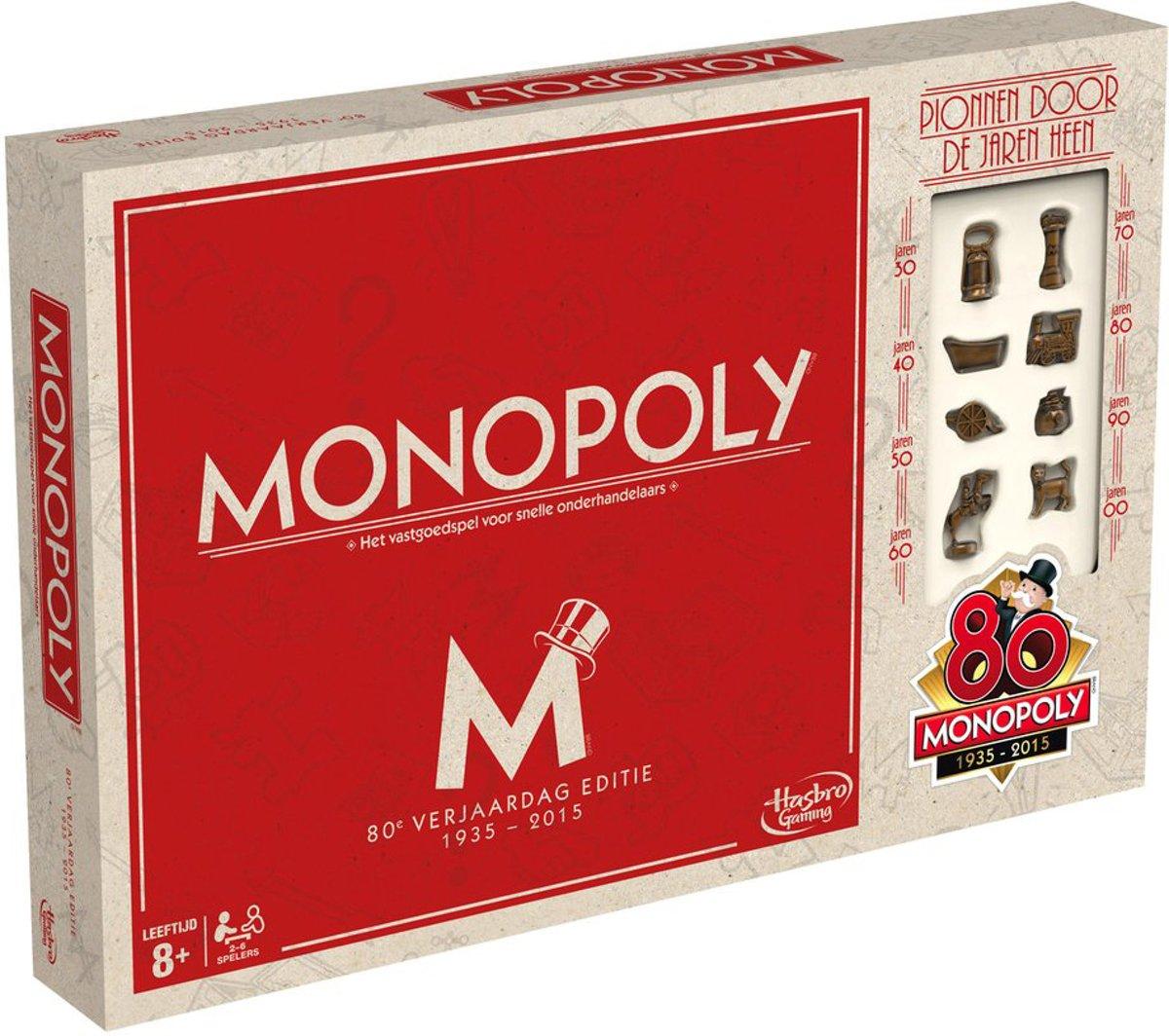 Monopoly 80ste Verjaardag Editie Nederland - Bordspel