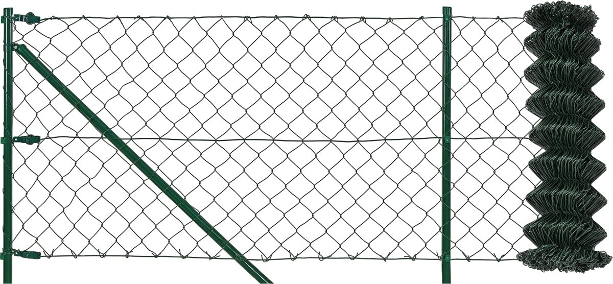 [pro.tec]® Tuingaas set - schutting - hekwerk - 15 x 1m kopen