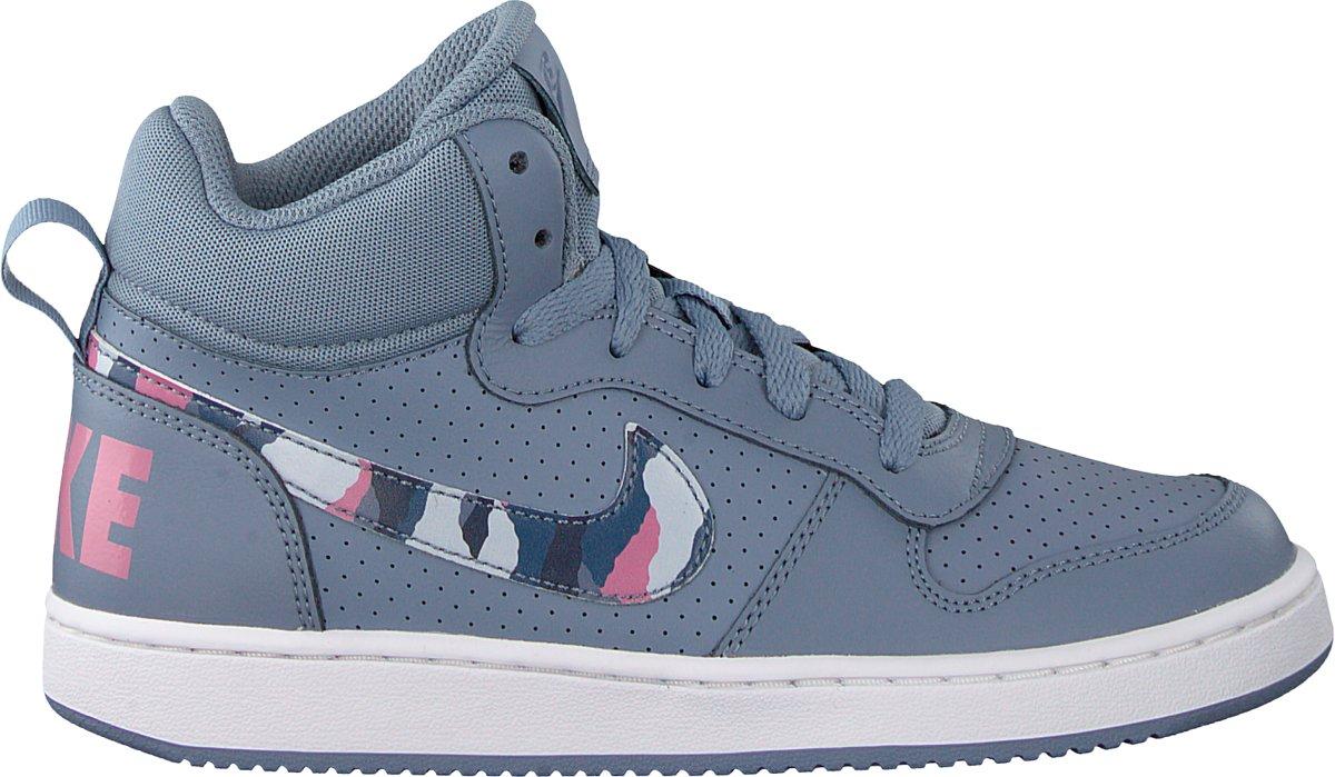 e8d309497fa bol.com | Nike Meisjes Sneakers Court Borough Mid (kids) - Grijs - Maat 38