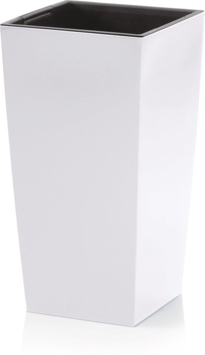 Witte Bloempot Vierkant.Bloempot Hoog Vierkant Urbi Square 40x40x75cm Wit Prosperplast