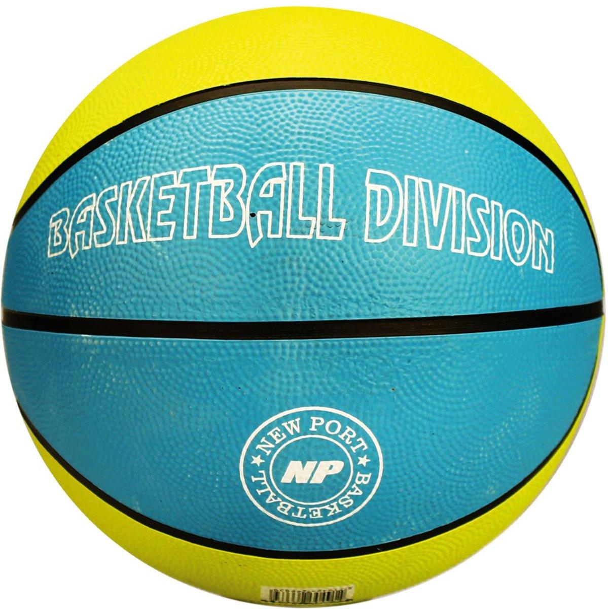 New Port Basketbal Print - Azuurblauw/Lichtgroen/Wit - 7 kopen