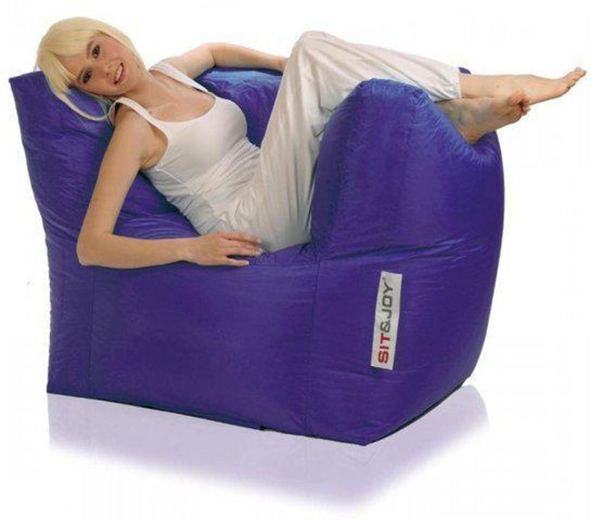 Sit En Joy Lounge Zitzak.Sit And Joy Lounge Chair Zitzak Paars Vergelijk Lage Prijzen