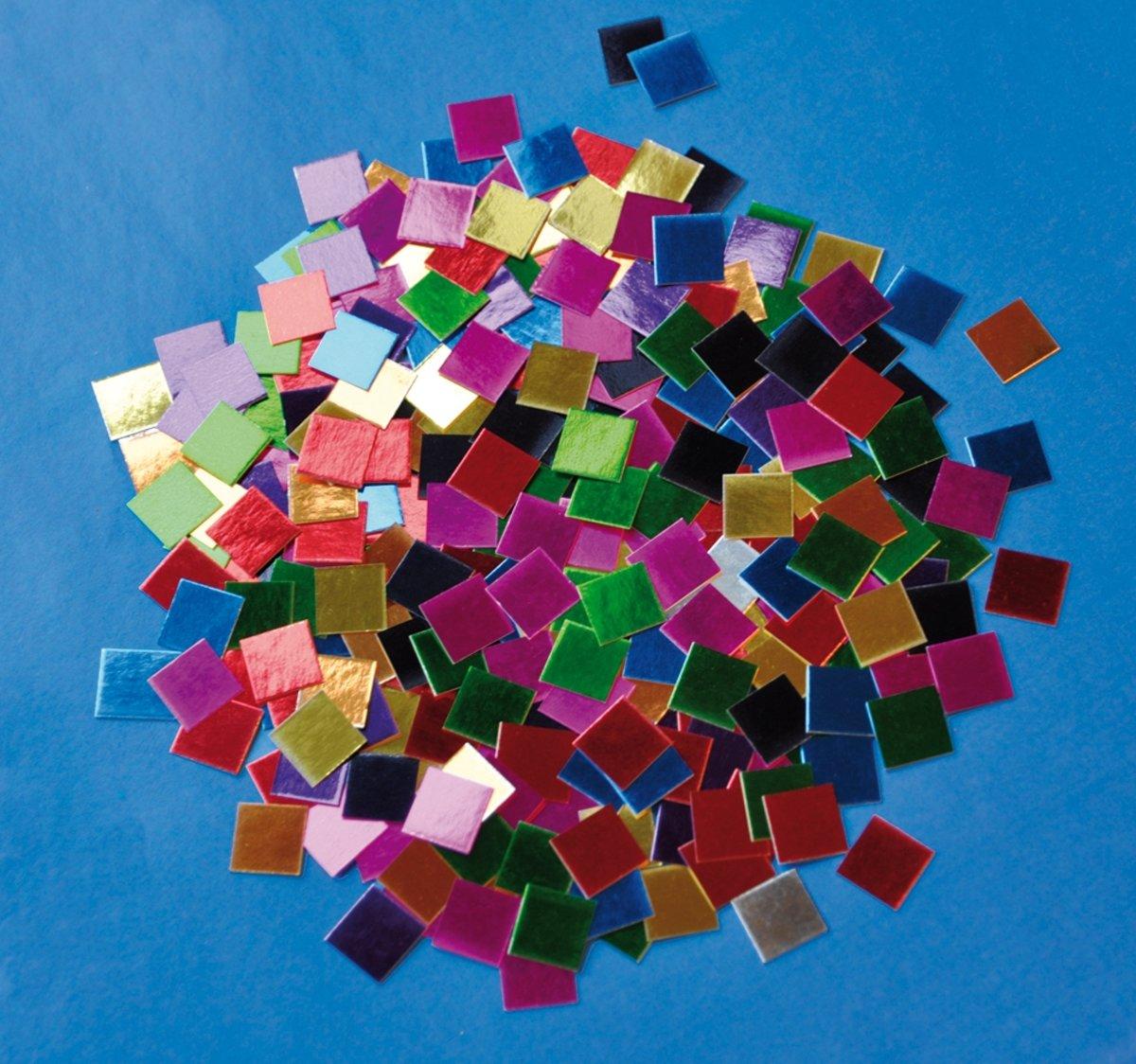 Papier mozaiek in metaalkleuren (10.000 stuks) kopen