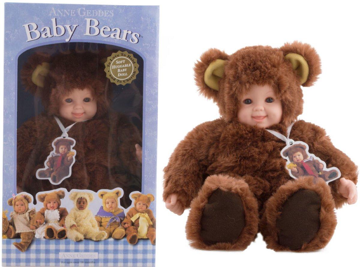 baby bear Anne Geddes 40 cm - donker bruin