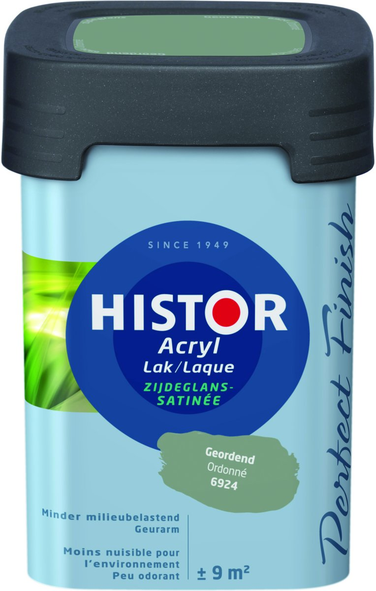 Histor Perfect Finish Lak Acryl Zijdeglans 0,75 liter - Klei