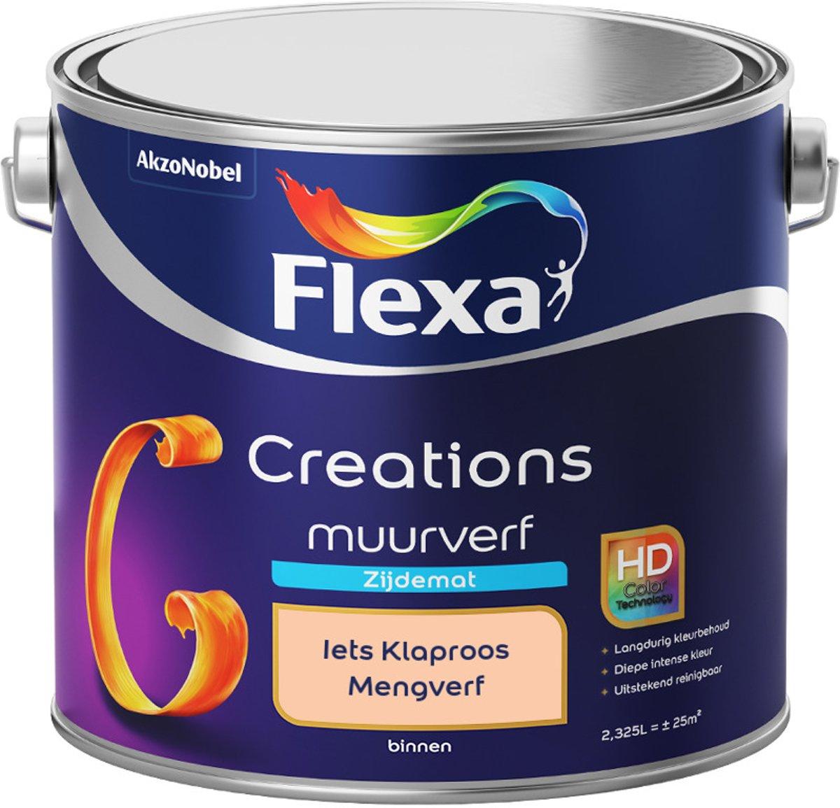 Flexa Creations - Muurverf Zijde Mat - Mengkleuren Collectie - Iets Klaproos  - 2,5 liter