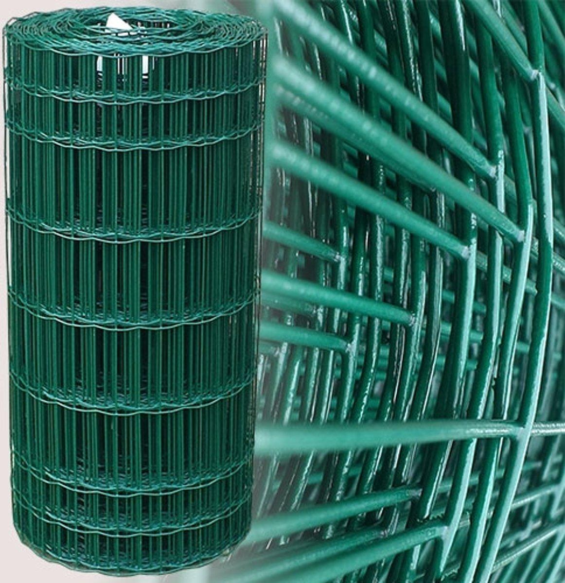 Tuingaas Rol 25m./60cm. (100x50mm) groen geplastificeerd