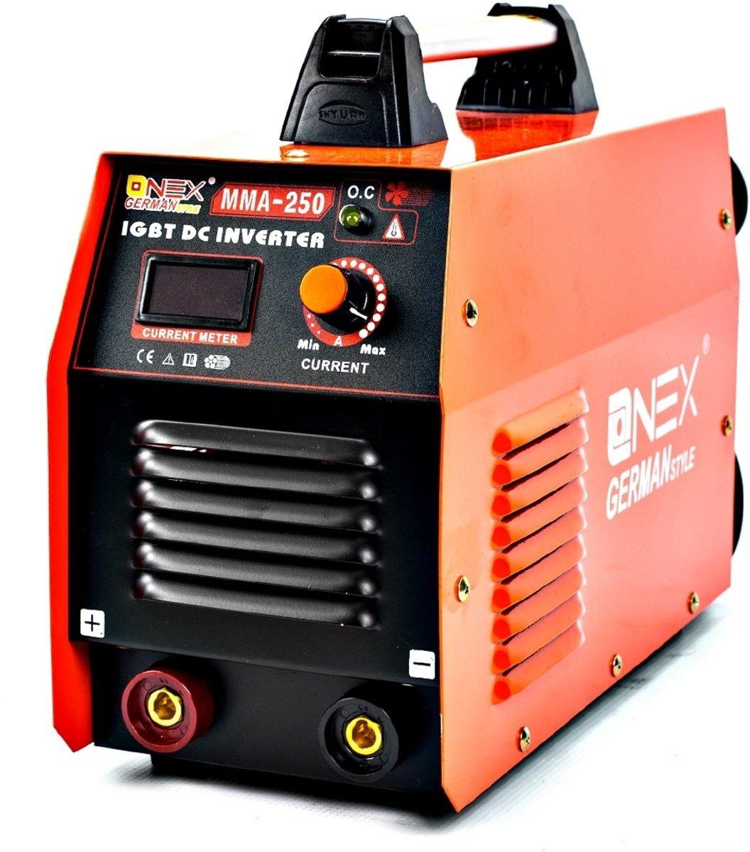 ONEX OX-3010 Lasapparaat / lasmachine 250 A MMA/IGBT - Incl. Laskap, bikhamer en Borstel