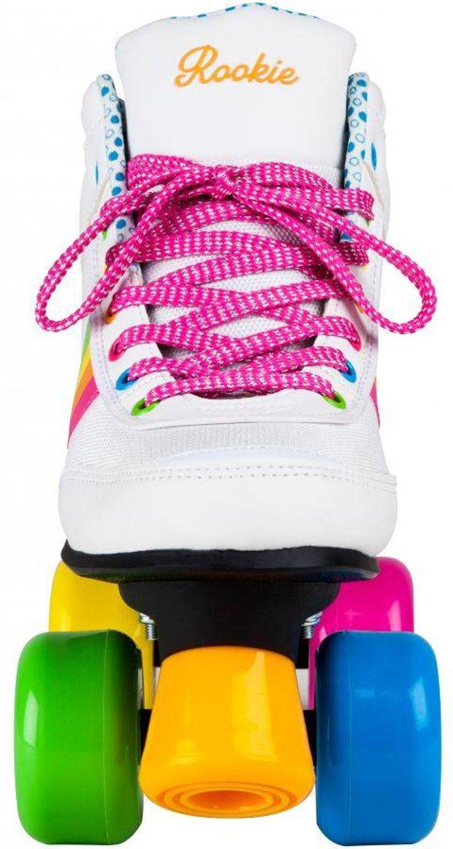 b5605231552 bol.com | Rookie Rolschaatsen - Forever Rainbow - Kinderen - Maat 38 -  Wit/Multi, Rookie | Speelgoed