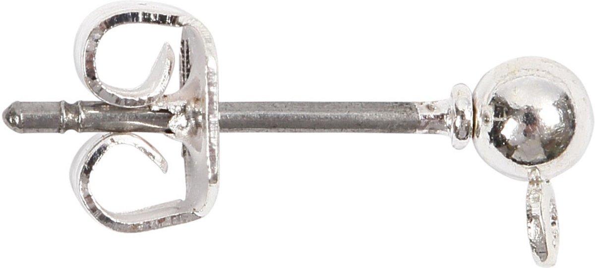 Oorsteker, l: 13 mm, verzilverd, 10stuks [HOB-603100] kopen