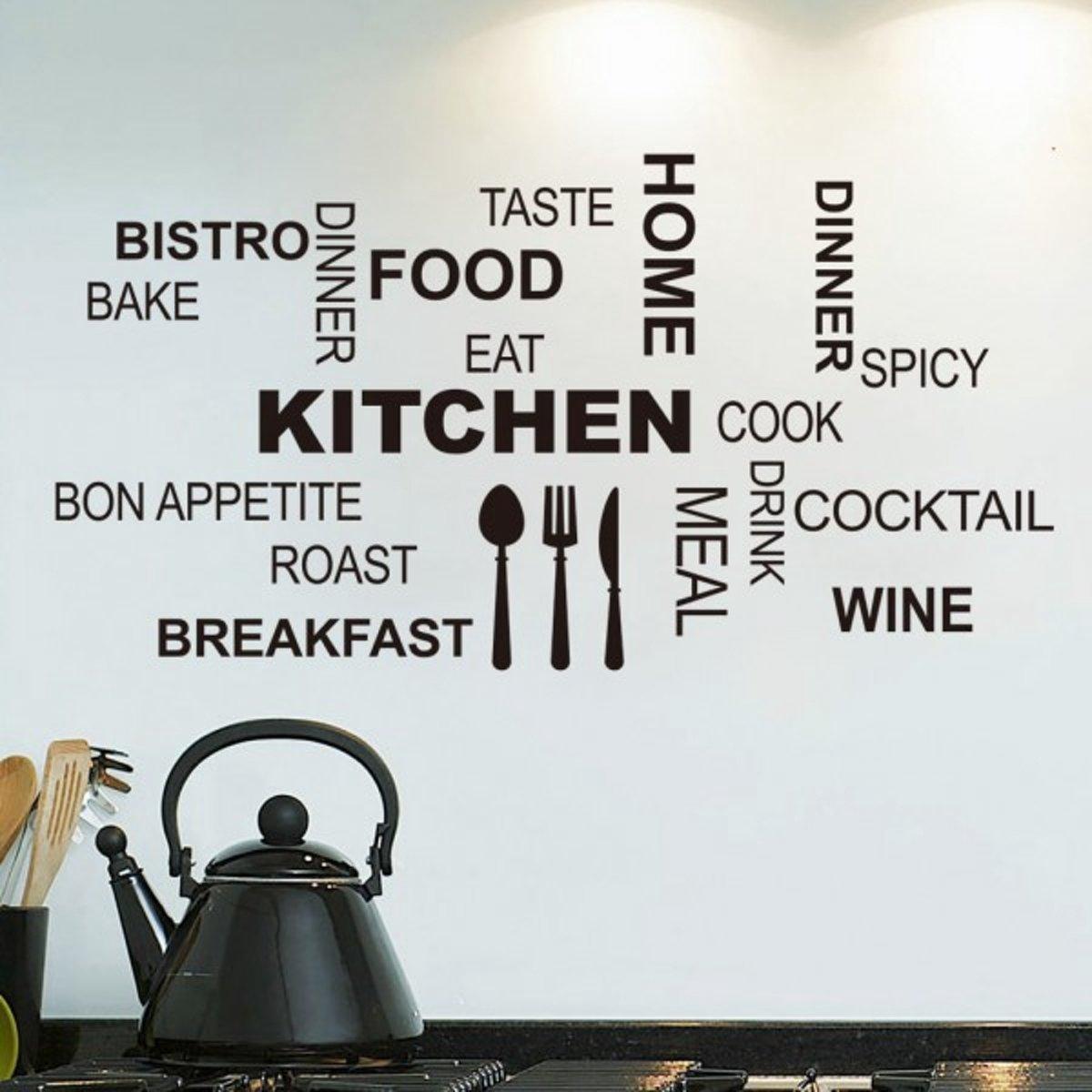 bol.com | Moderne Keuken Muurtekst Engels - Muursticker Tekst ...