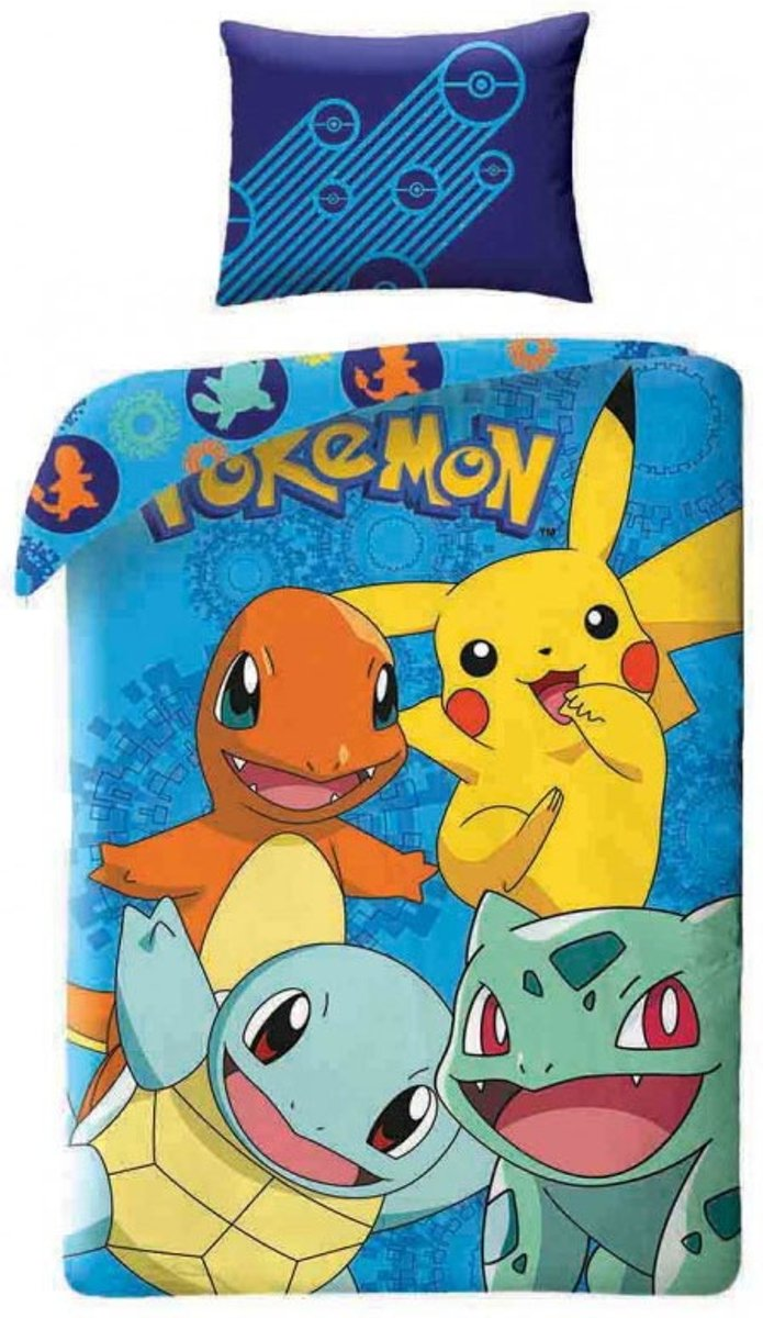 Pokémon Goodguys Dekbedovertrek - Eenpersoons - 140x200 cm - Multi kopen