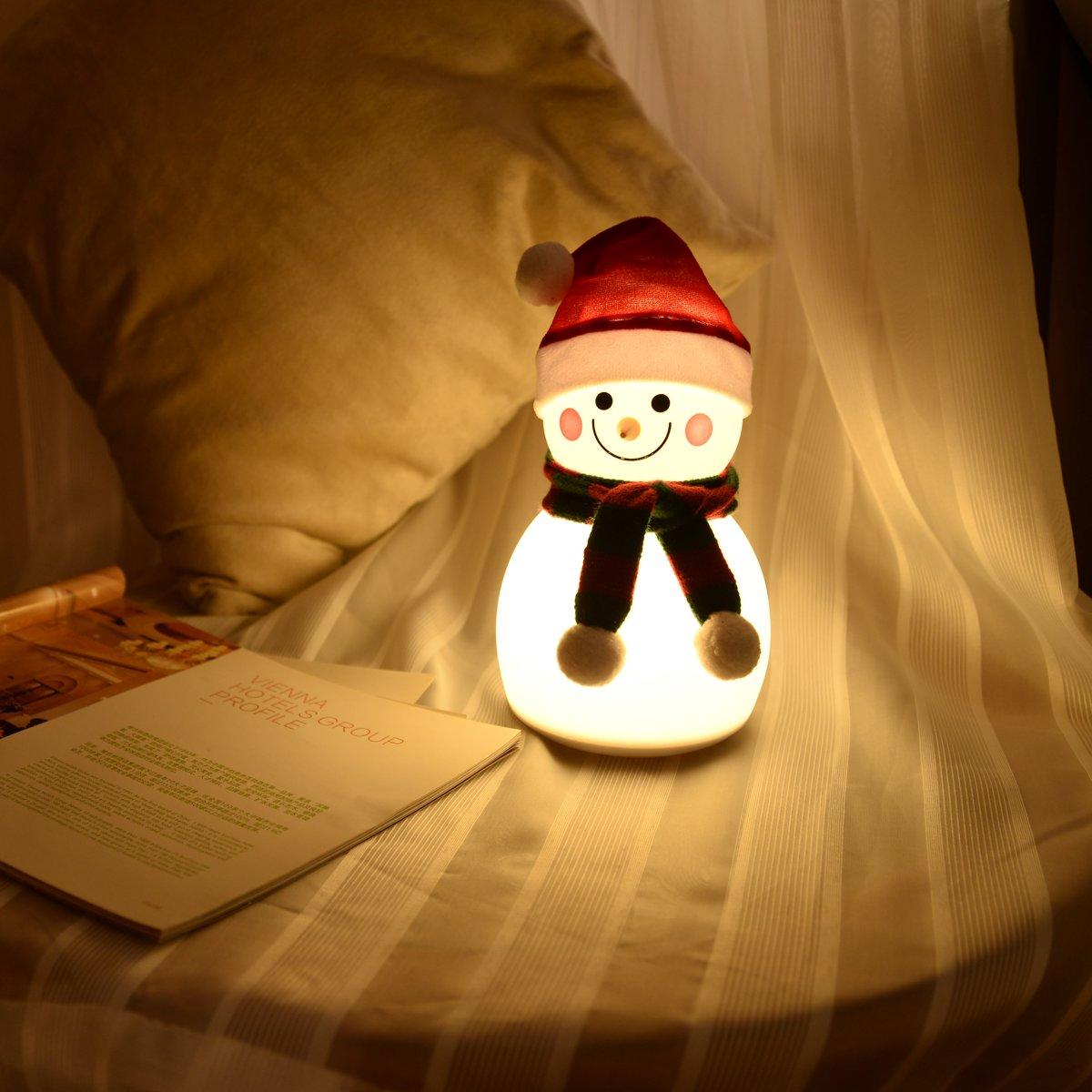 FlinQ Sneeuwpop LED Lamp - Oplaadbare Sneeuwpop - Iceman met Muziekfunctie - Winterse Huissfeer kopen