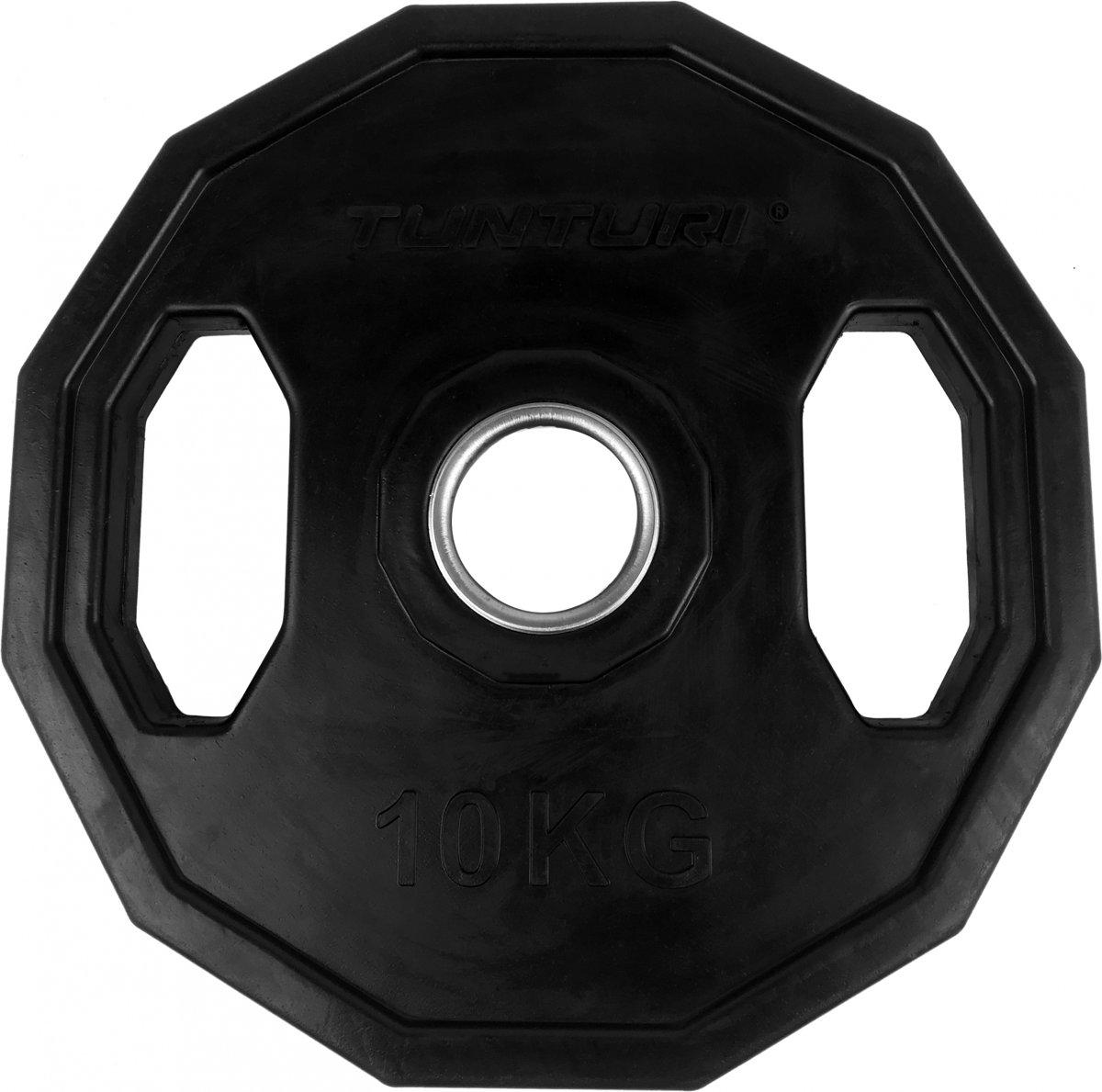 Tunturi Olympische Halterschijf - Halter gewichten - 1x 10.0 kg - Ø 50 mm - Rubber kopen