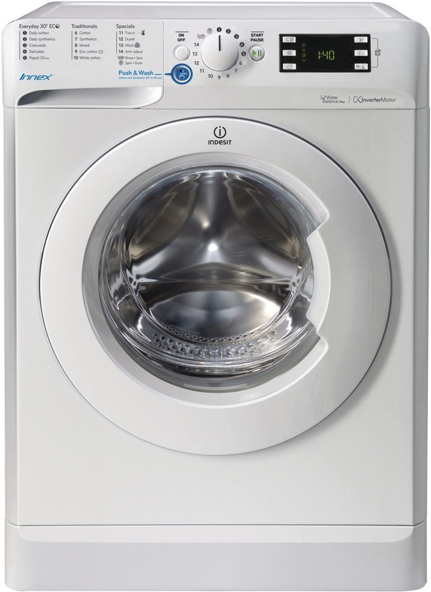 Indesit BWE 71452 W NL wasmachine Vrijstaand Voorbelading Wit 7 kg 1400 RPM A++