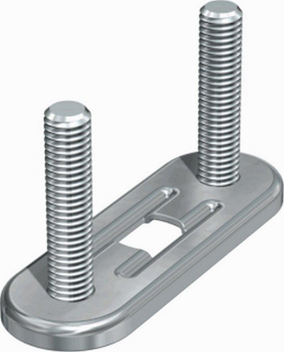 FLAM grondplaat v/beugelbev BMD, staal, diam 50mm, (bxl) 25x76mm kopen