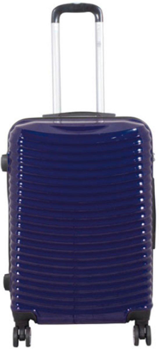 reiskoffer Bunker 100% polycarbonaat Dubbel wiel -  blauw | 67cm kopen