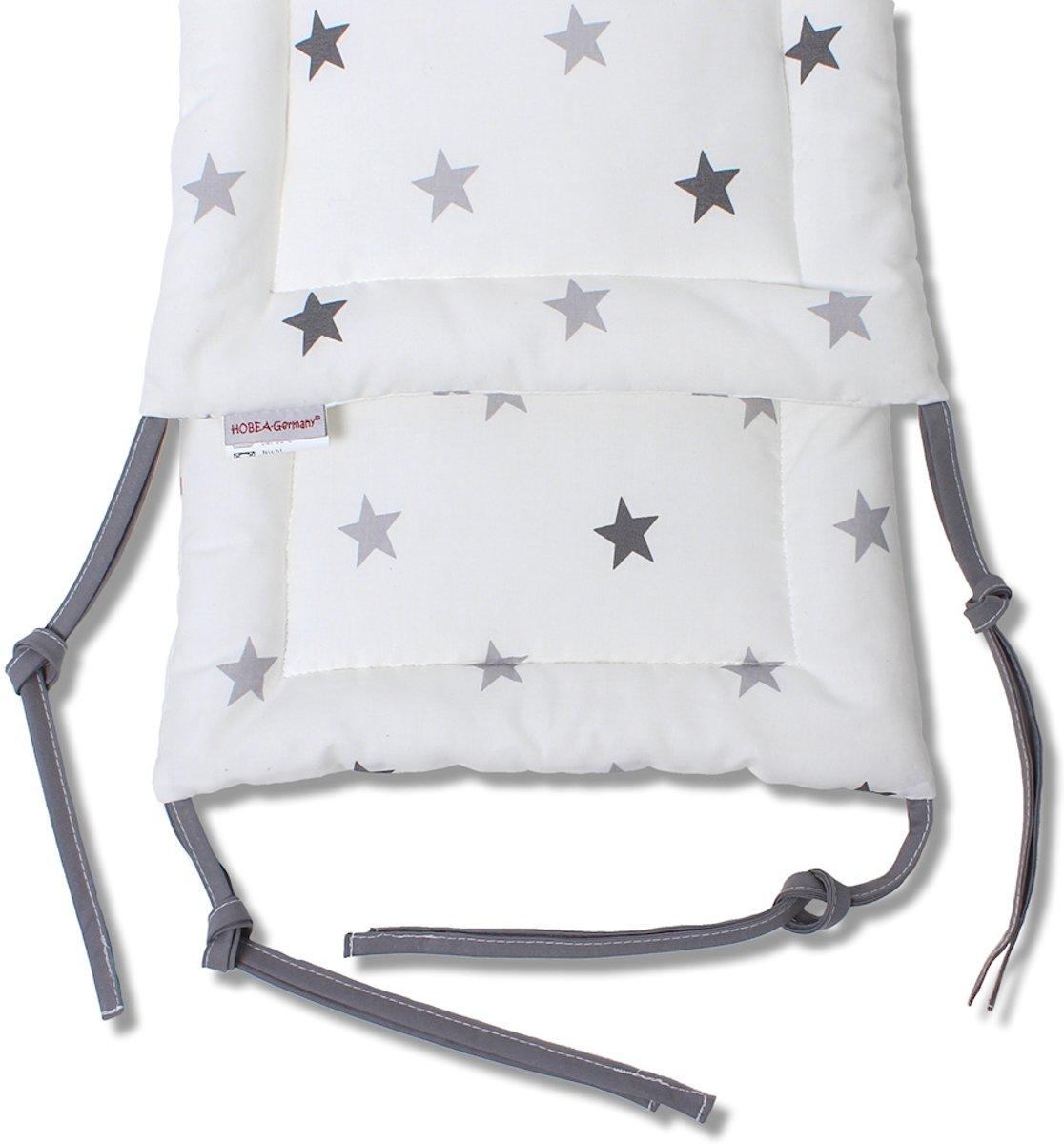 Hobea - hoofdbeschermer - babybedje - sterren - wit
