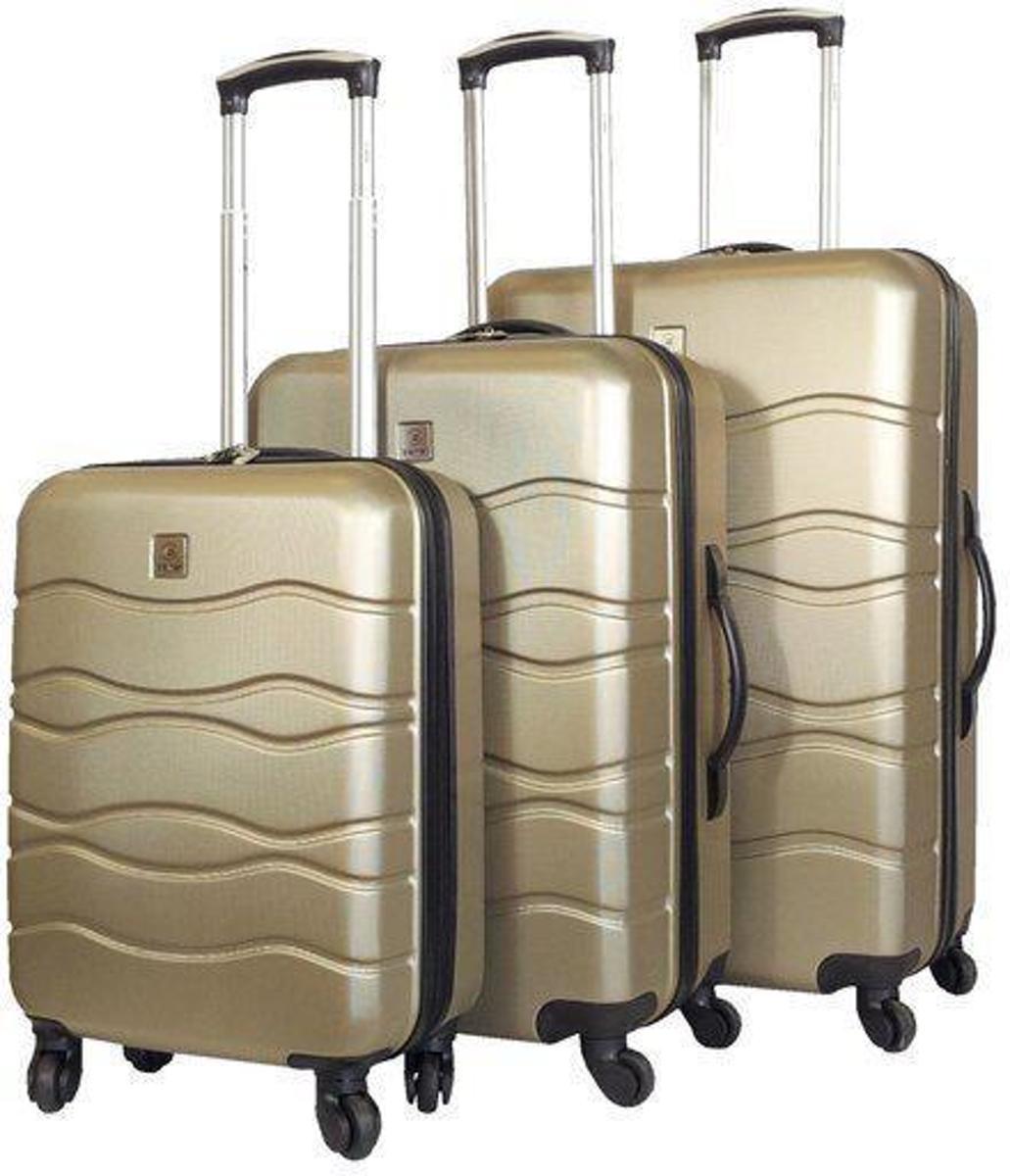 Benzi ABS kofferset 3-delig Wave -champagne kopen