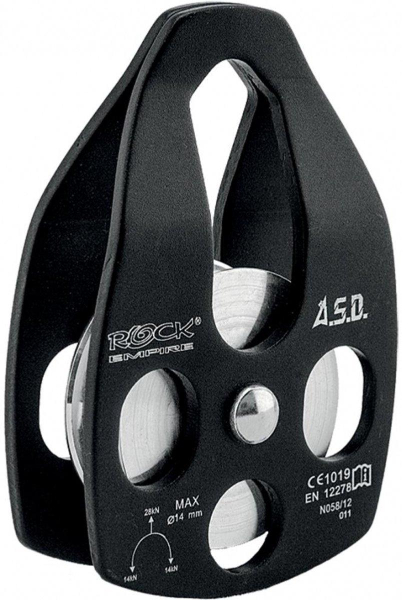 Rock Empire Simple Pulley Katrol voor max 16 mm touwdiameter