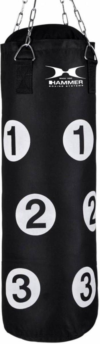 Hammer Boxing Punching bag Sparring met nummers, black, 80x30 cm kopen