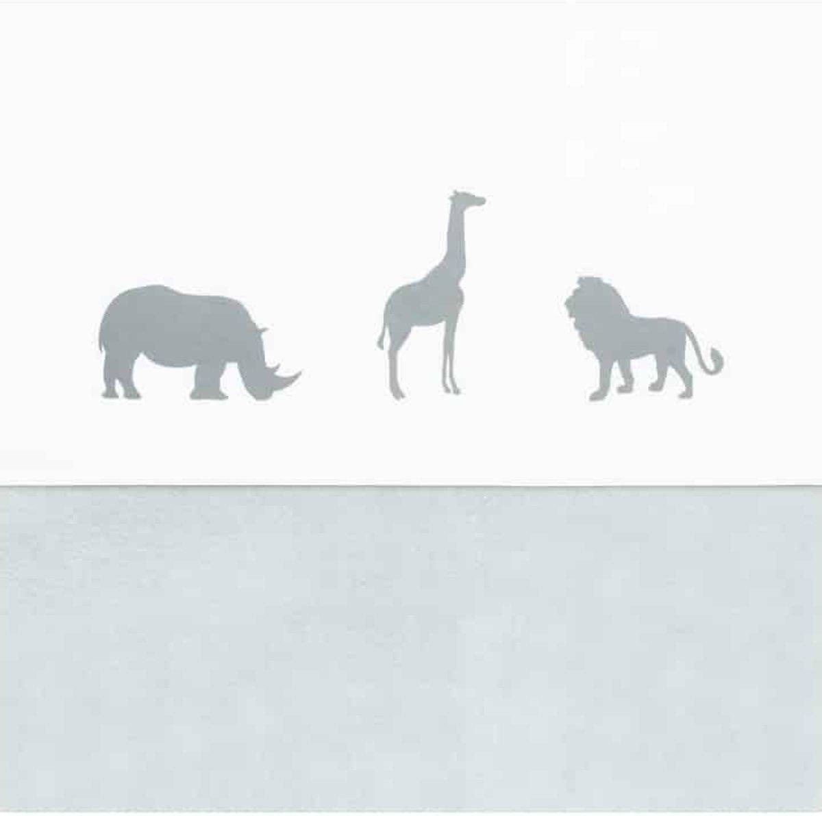 Jollein Safari Laken 75x100cm stone grey