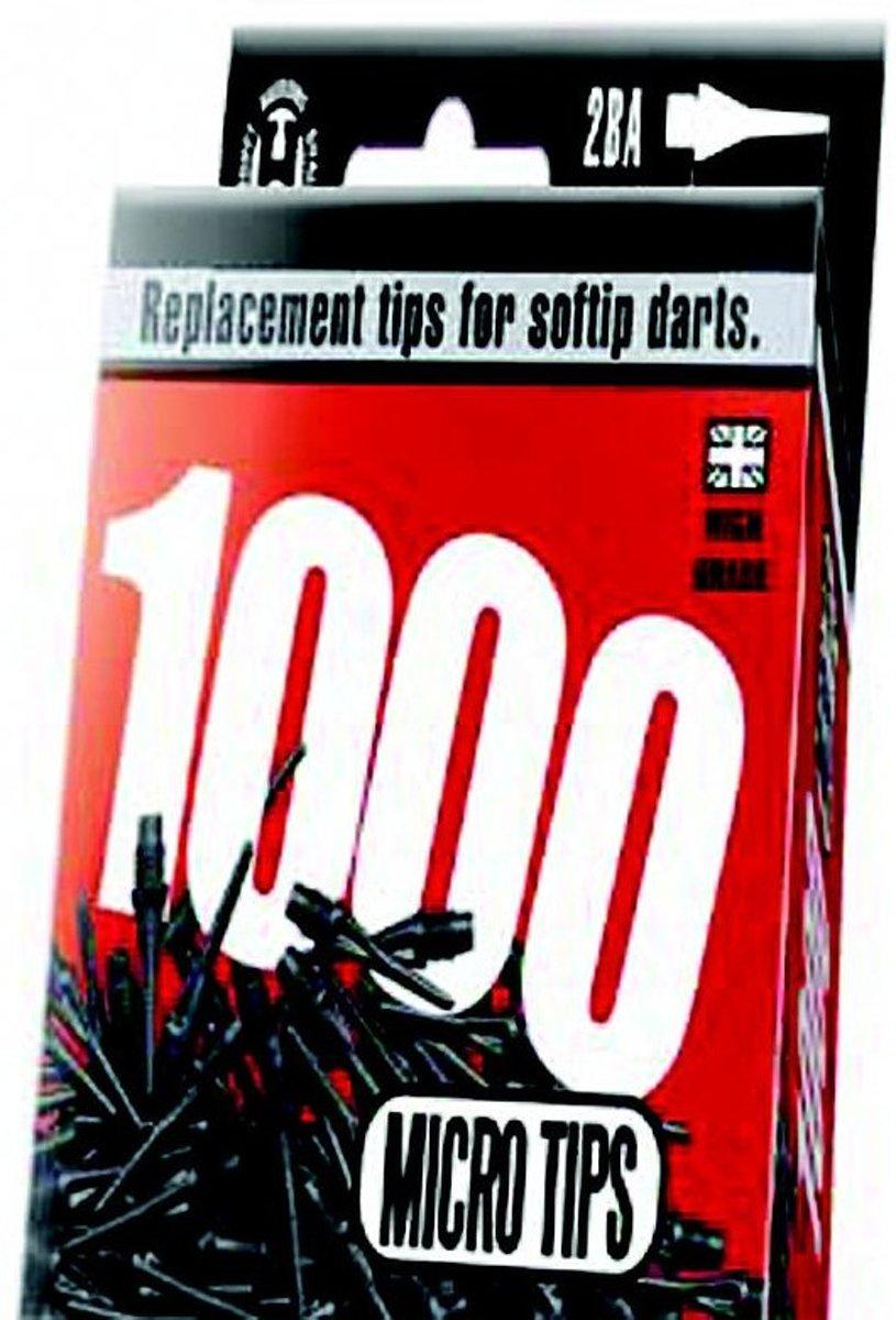 Harrows Darts Softtip Punten Micro 2ba Zwart 1000 Stuks kopen
