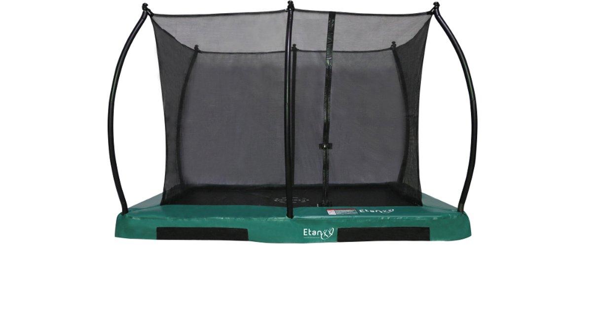Etan Inground Hi-Flyer Combi Trampoline set 281 x 201 cm - inc. Veiligheidsnet - Groen - Rechthoekig - Zeer veilig
