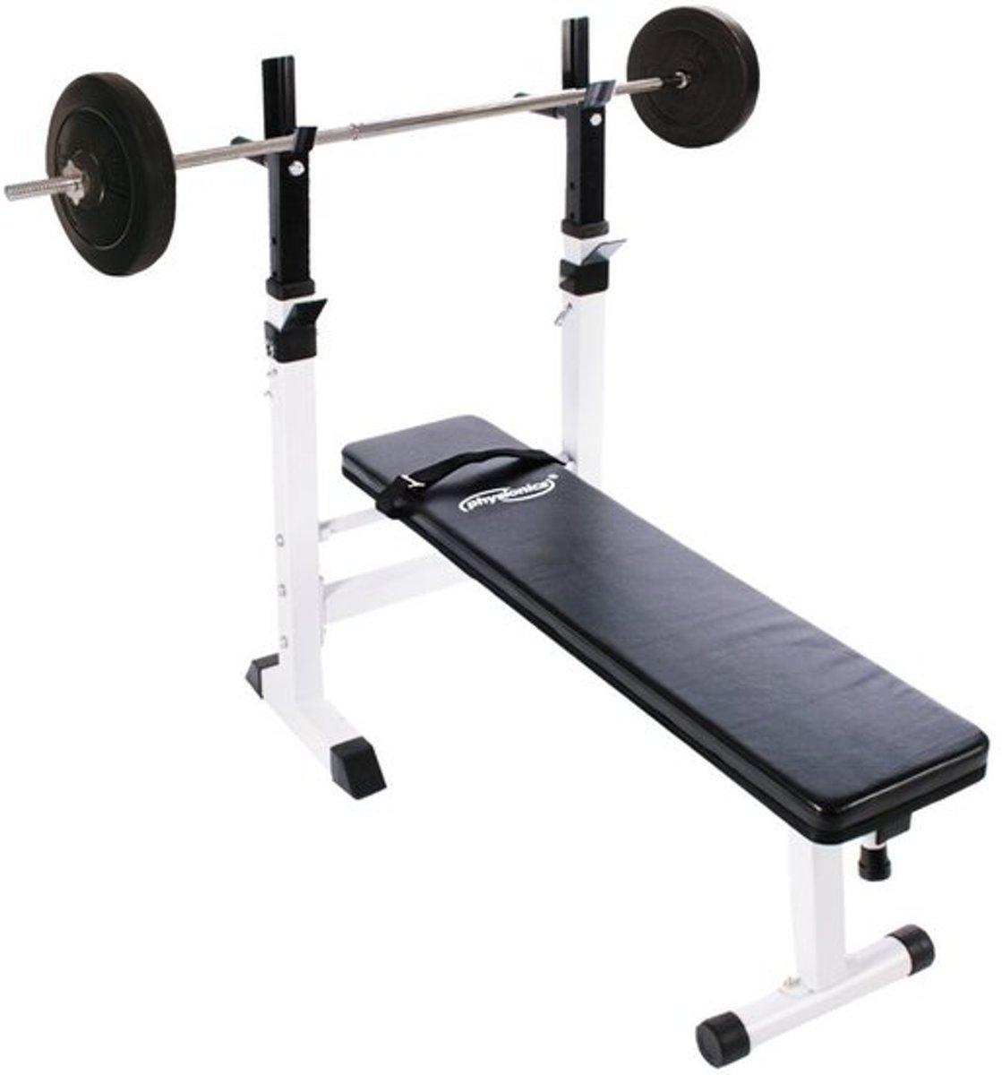 Powerlift bank - Curlstang - Gewichten - 23 kG kopen