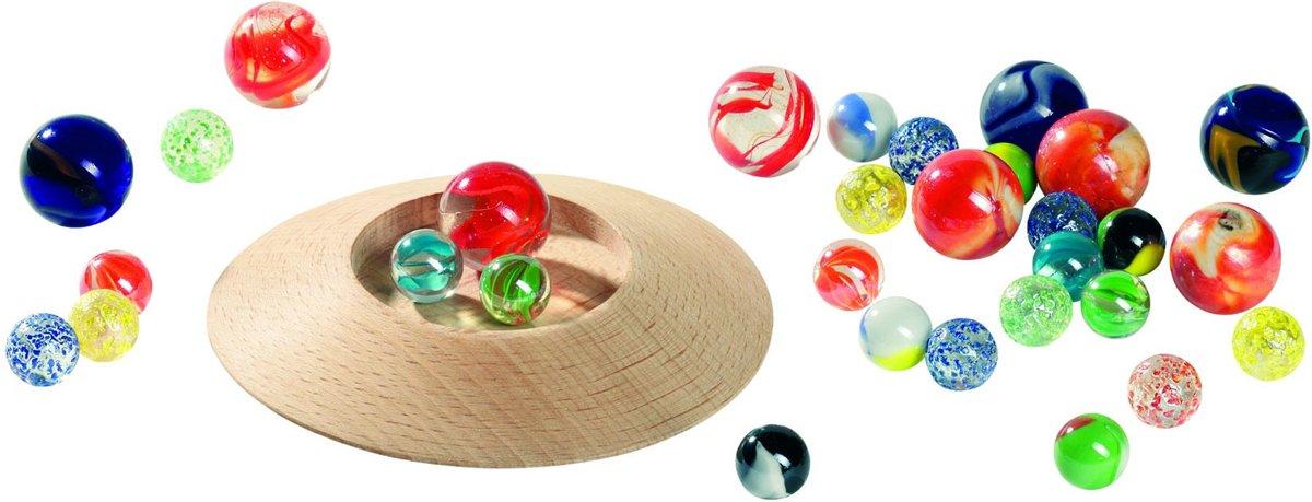 Goki Knikkerspel: knikkerbord 31-delig