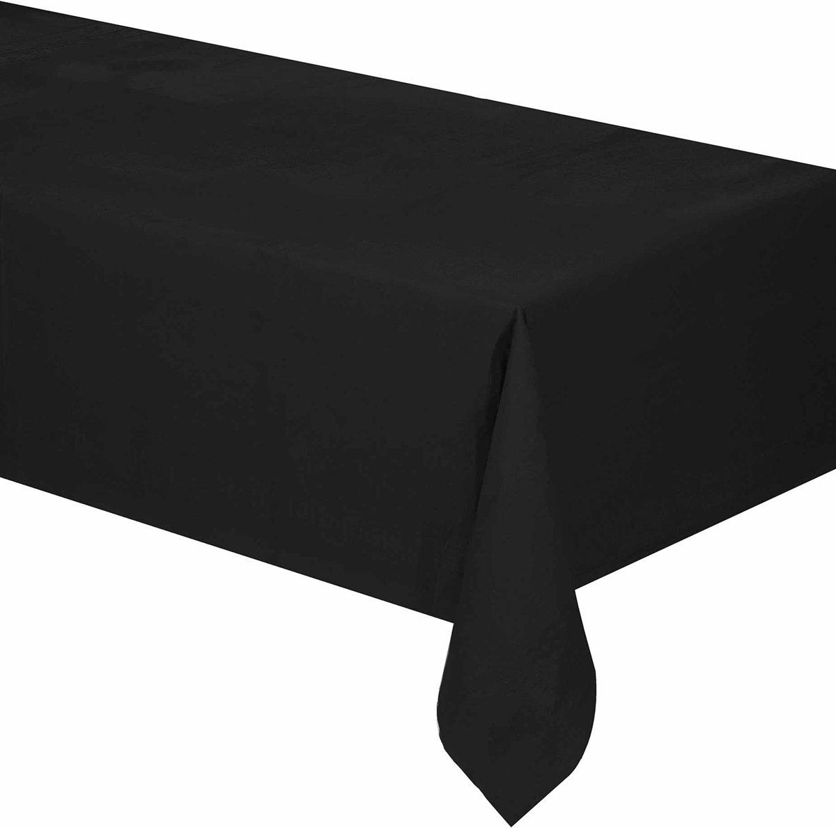 Zwart papieren tafelkleed - Feestdecoratievoorwerp kopen