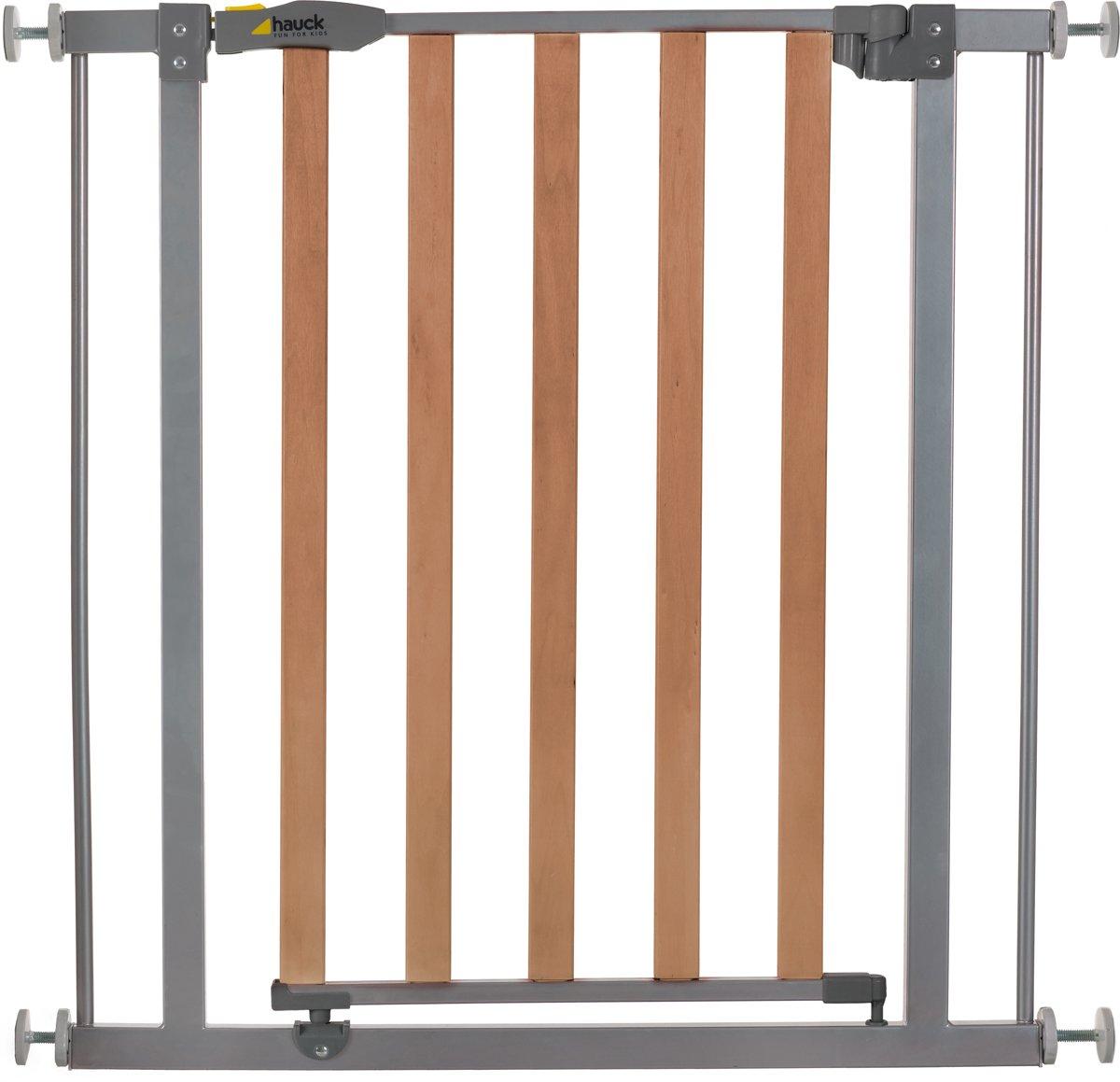 Hauck Wood Lock Safety Gate - Traphekje (75 - 81 cm) - Silver