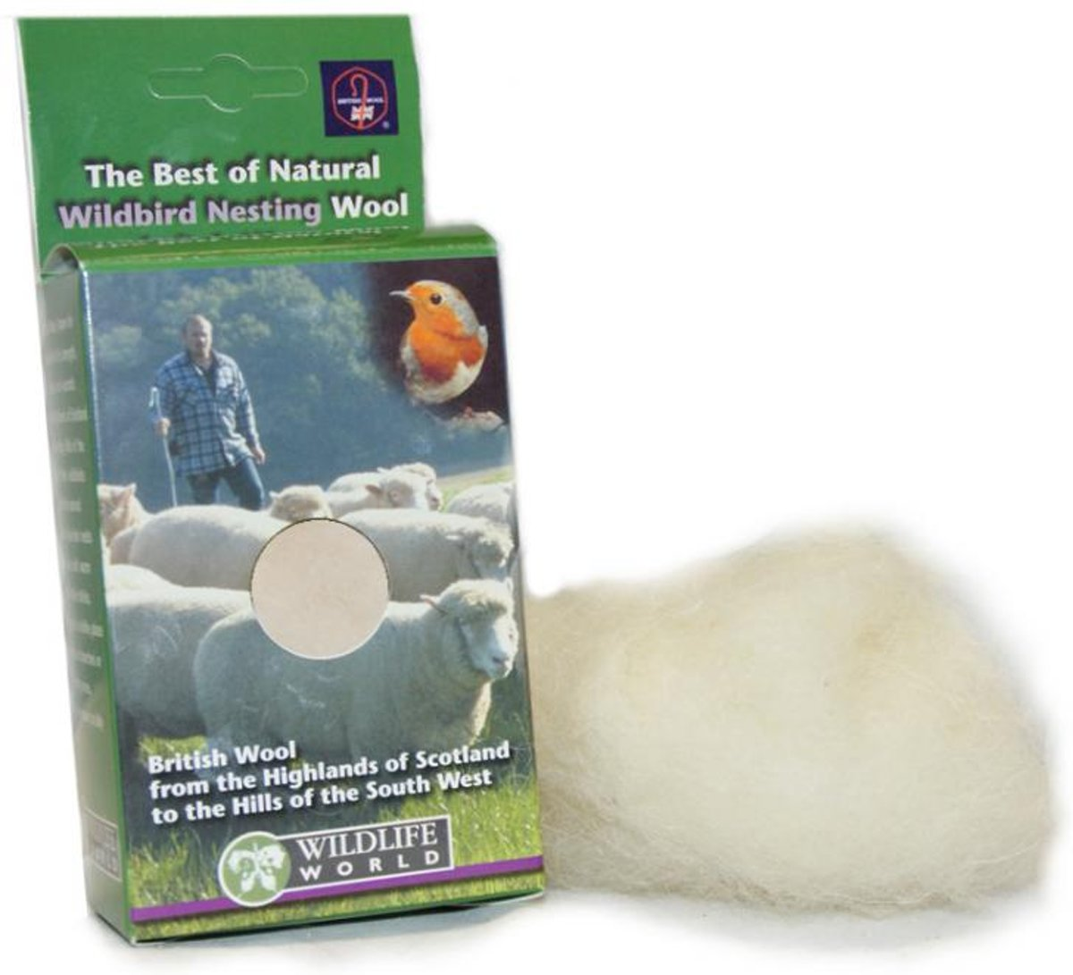 Schapenwol als nestmateriaal - set van 3 stuks kopen