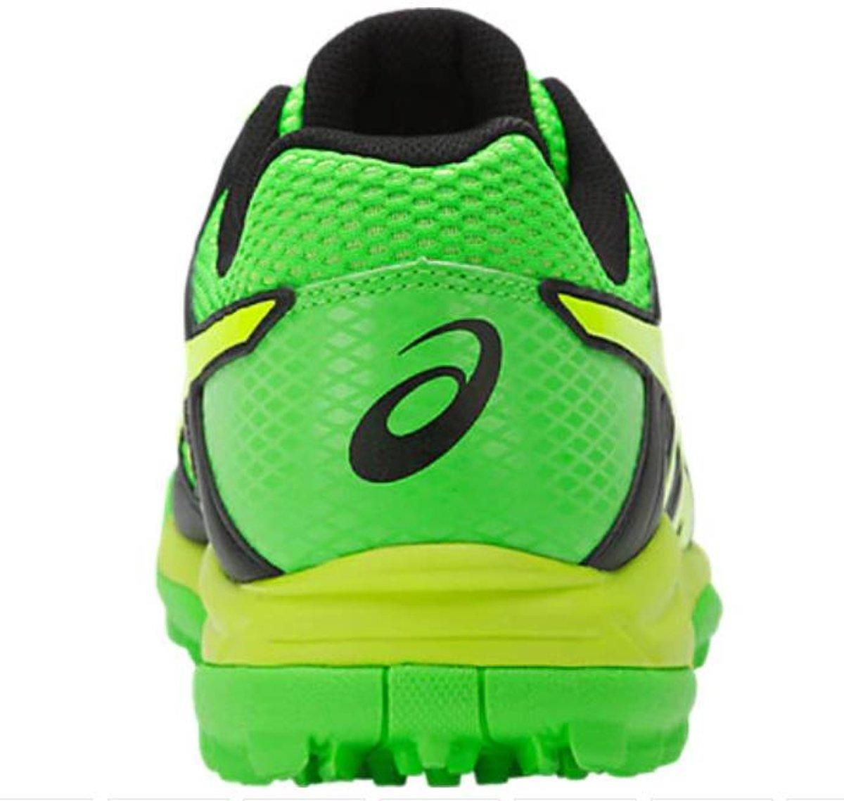 Gel Asics Létales Mp 7 Chaussures De Hockey - Taille 43,5 - Hommes - Noir / Vert / Jaune