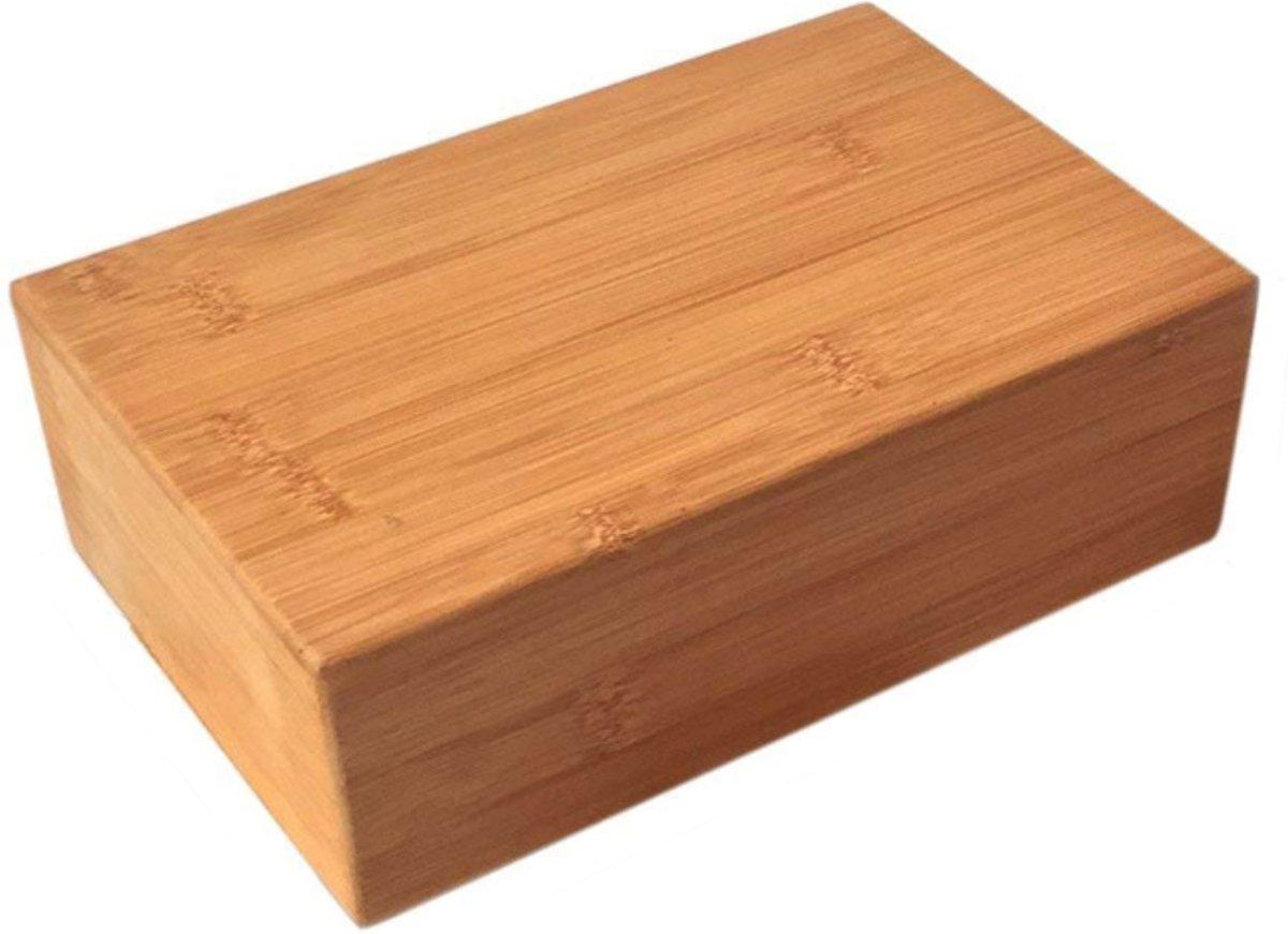 JAP Yoga blok - Bamboe [Pro Series] - Verbetert kracht balans en flexibiliteit - 23x15x8cm - 800g kopen