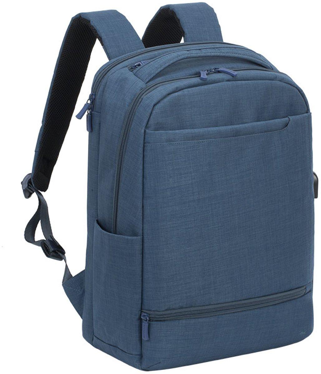 RivaCase 8365 - Laptop Rugzak - 17.3 Inch - Extra vak voor 10.1 Inch tablet - Blauw