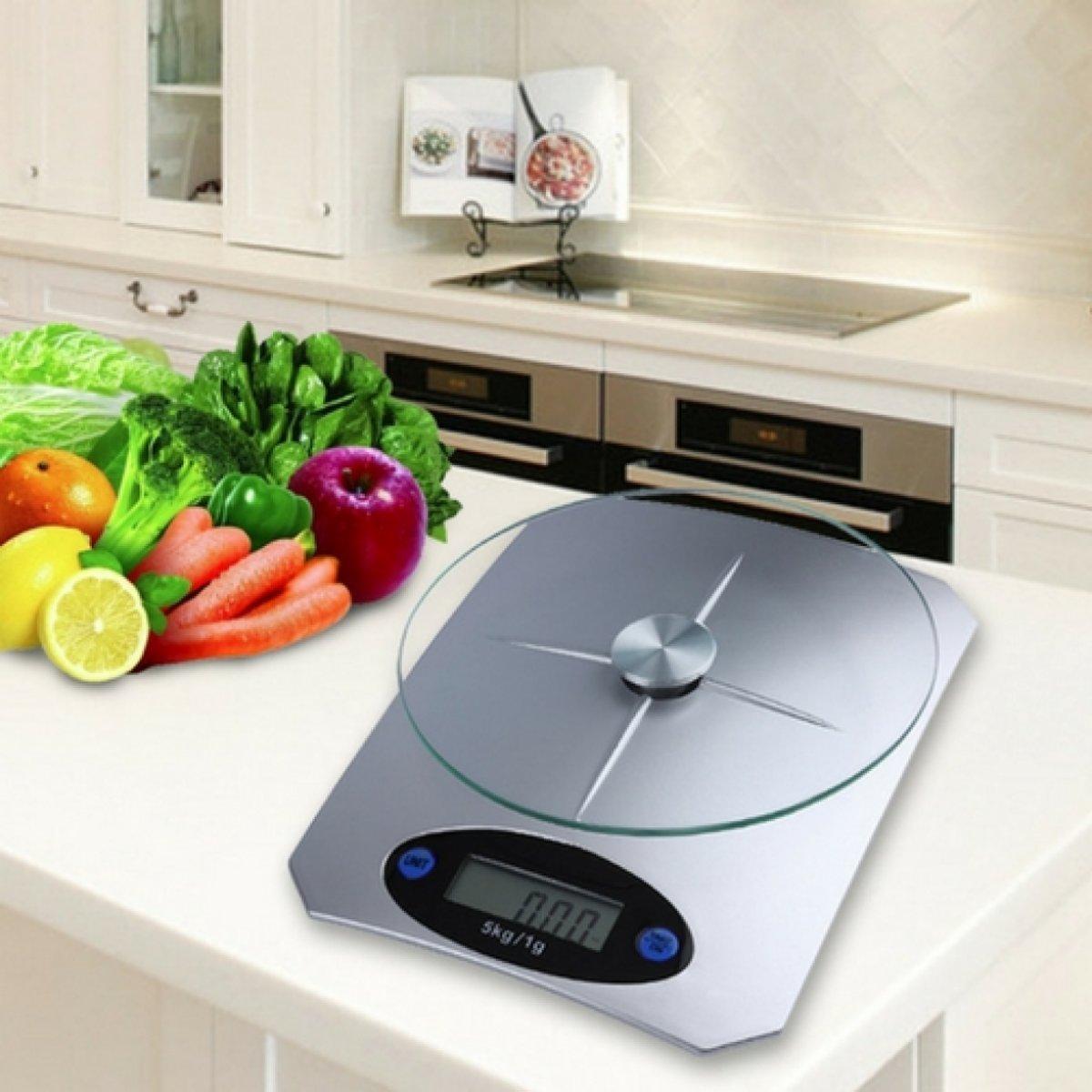 Keuken weegschaal | Elektronische keukenweegschaal | Keuken gadgets | Weegschaal RVS