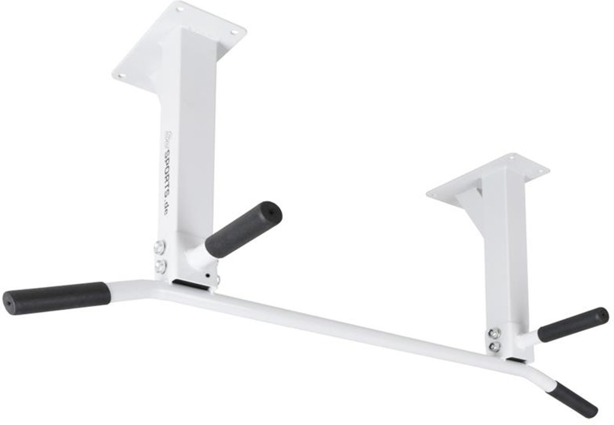 ScSPORTS® Chinningbar - Chinning bar - Chin Bar - Chin up & Pull up Bar - Optrekstang voor plafondmontage - Wit - 150 kg - 4 handgrepen kopen