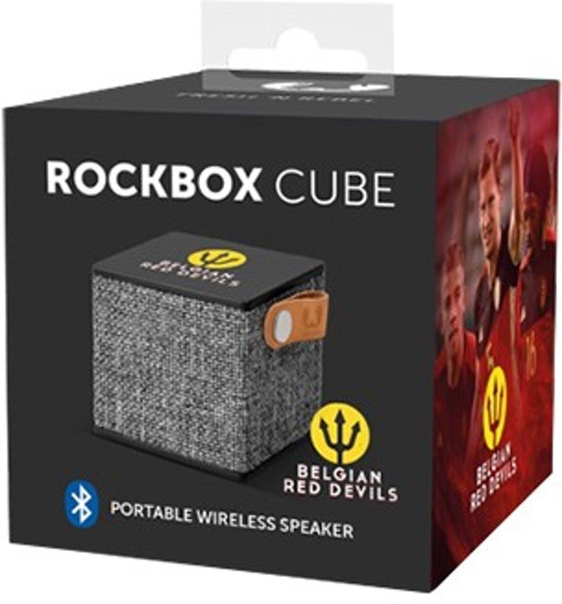 Fresh 'n rebel Rockbox Cube - Red Devils Edition - Zwart kopen
