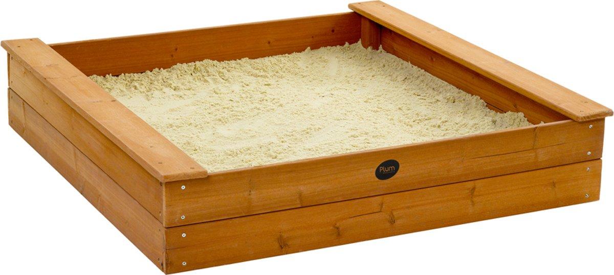 Plum houten vierkante zandbak